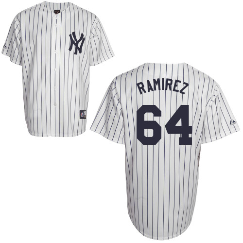 Jose Ramirez #64 Youth Baseball Jersey-New York Yankees Authentic Home White MLB Jersey